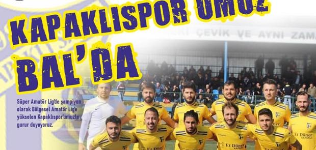 BAŞKAN ÇETİN'DEN BAL'A YÜKSELEN KAPAKLISPOR'A TEBRİK