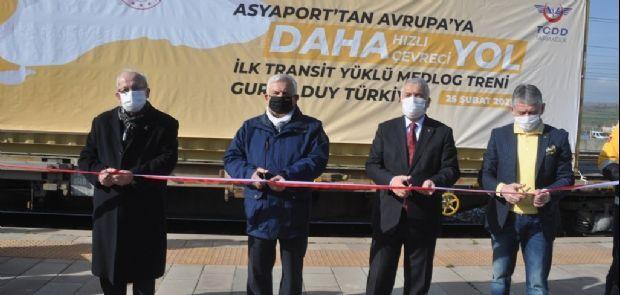 BULGARİSTAN'A TREN İLE İLK TRANSİT YÜK YOLA ÇIKTI
