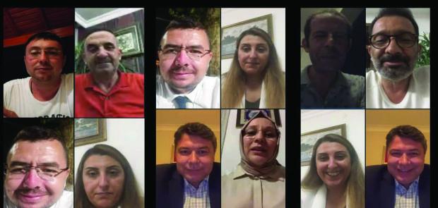 AK PARTİ'DEN VİDEO KONFERANSLA BAYRAMLAŞMA
