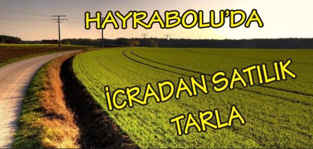 HAYRABOLU'DA İCRADAN SATILIK TARLA